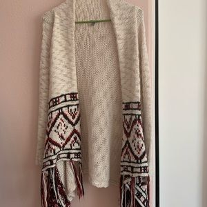 TRIBAL PRINT KNIT SWEATER